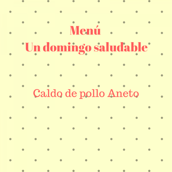 Caldo de pollo saludable Aneto