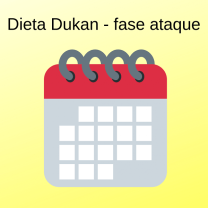 Menú semanal Dukan Fase ataque