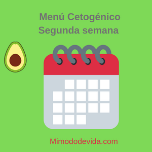 Menu cetogenico segunda semana min - Menú semanal descargabable