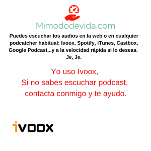 Escuchar audios en reproductor de podcast