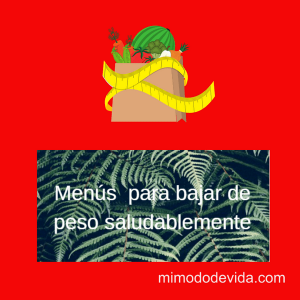 Menús saludables y nutritivos