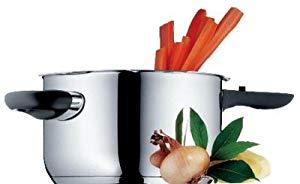 Olla a presion con sabor  - WMF Perfect Plus - Set con olla rápida de 22 cm de diámetro de 6,5 litros y cuerpo de 3 litros de WMF