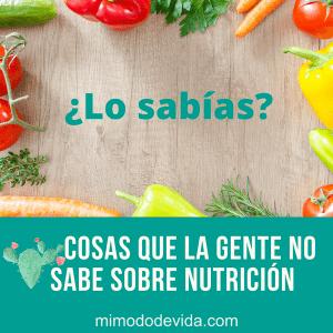 Cosas que la gente-no sabe sobre nutrición