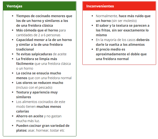 VENTAJAS E INCONVENIENTES DE LAS FREIDORAS SIN ACEITE - Las 7 mejores freidoras sin aceite en Amazon