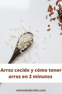 Arroz cocido o arroz en blanco