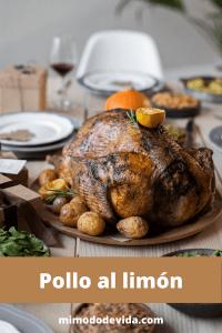 Receta de Pollo al limón al horno