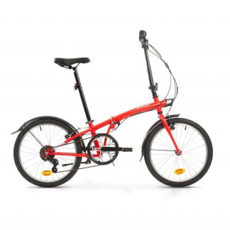 Bicicleta plegable con marchas