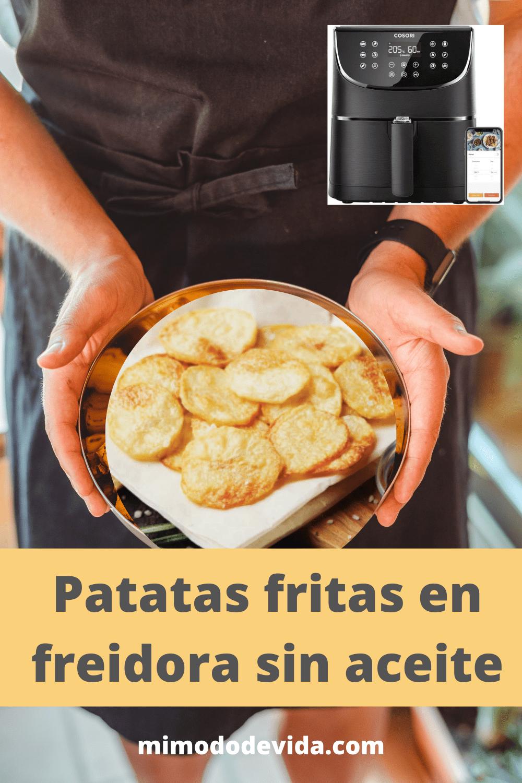 Receta Patatas fritas en freidora Cosori