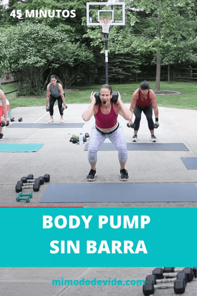 Body Pump con mancuernas sin barra