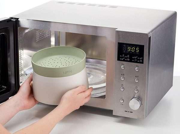 Para cocinar arroz en microondas