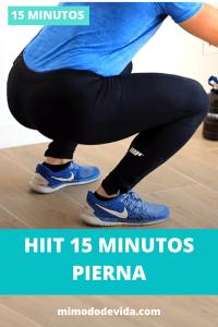 Hiit 15 minutos pierna